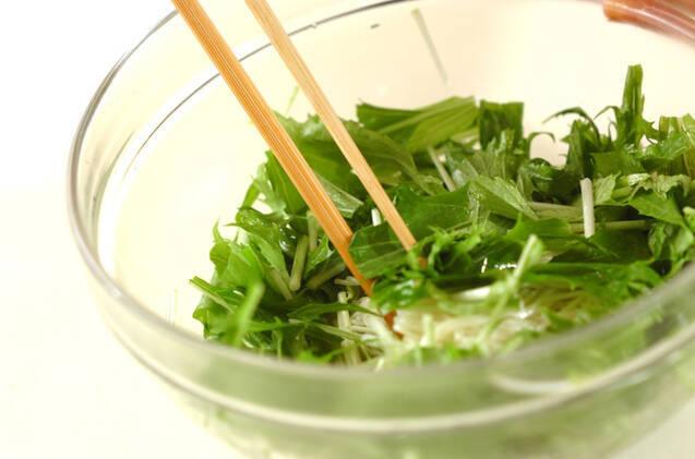 シラスと素麺のサラダの作り方の手順2