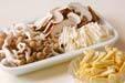 キノコの炊き込みご飯の下準備6