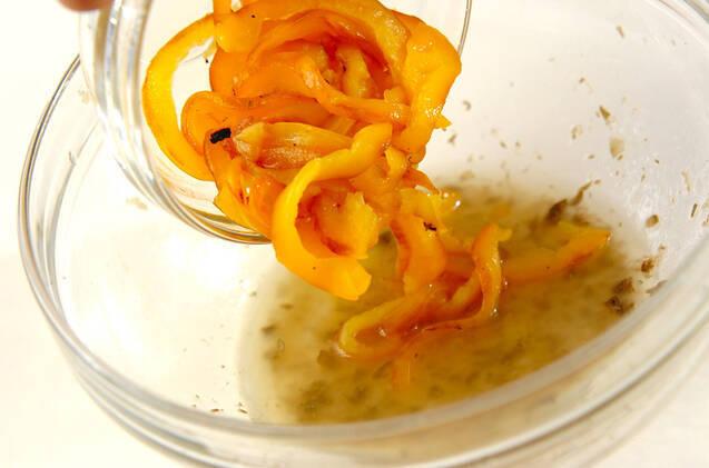 焼きパプリカのビネガー冷製パスタの作り方の手順2