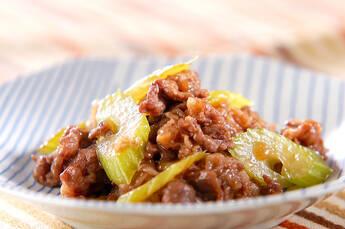 牛肉とセロリの中華炒め