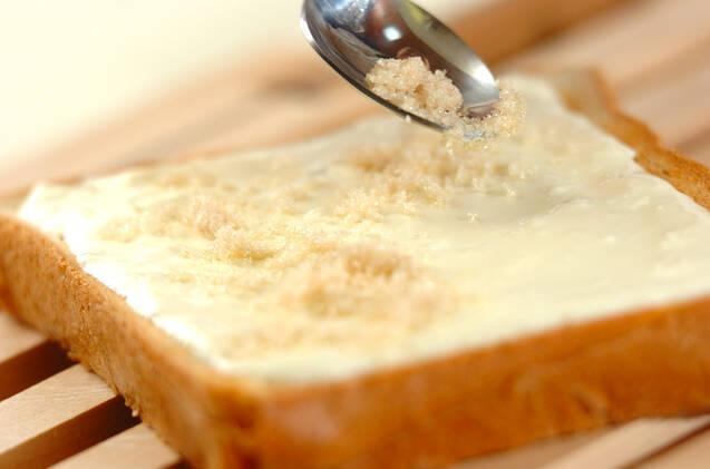 イチゴトーストの作り方の手順3