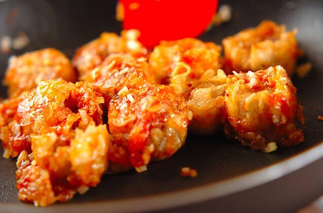 揚げシューマイのチリソース炒めの作り方の手順5