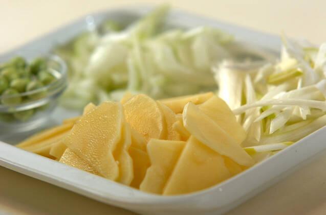 野菜のうまみを味わう!エンドウ豆のスープの作り方の手順1