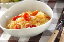 トロトロ卵とトマトのおかゆ