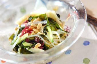 海藻と野菜のたっぷりサラダ