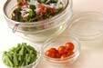 エビと海藻のサラダの下準備2