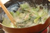 チンゲンサイのクリーム煮の作り方3