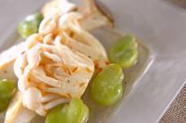 キノコとソラ豆のマリネ