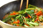 ジャコと小松菜の炒め煮の作り方2