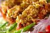 揚げ鶏のネギソース(油淋鶏風)の作り方の手順