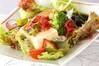 海藻と豆腐のサラダの作り方の手順