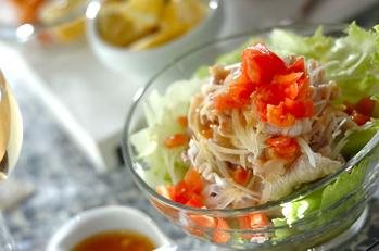 「塩トマト」でサッパリ冷しゃぶサラダ