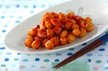 ヒヨコ豆のチリ炒め