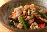 豚肉の山椒風味炒め