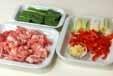 豚肉の山椒風味炒めの下準備1