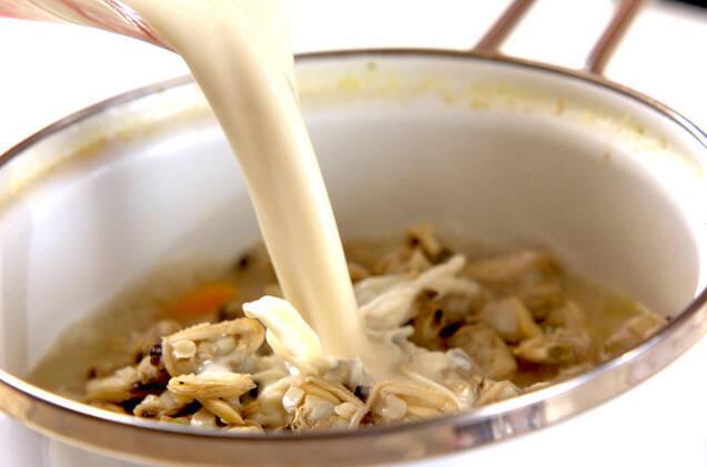 アサリ缶の豆乳スープ煮の作り方の手順3