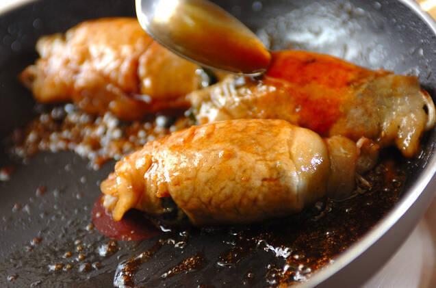 海藻肉巻きの作り方の手順5