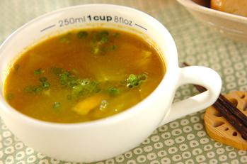 キャベツとベーコンのカレースープ