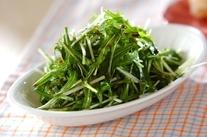 水菜の塩もみサラダ