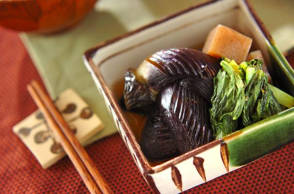 ナスとシイタケの煮物の画像
