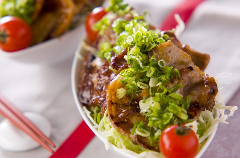 豚肉のオイスター焼きと野菜