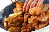 鶏唐揚げとフライドポテトの作り方10