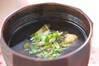 煮卵のトロミ汁の作り方の手順