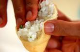 揚げ包みご飯の作り方2