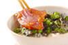 マグロの梅風味丼の作り方の手順6