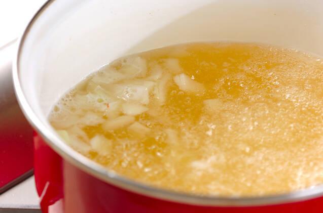 油揚げ入り納豆汁の作り方の手順4