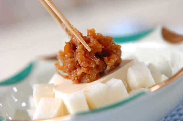 長芋と豆腐の梅おかかの作り方の手順4