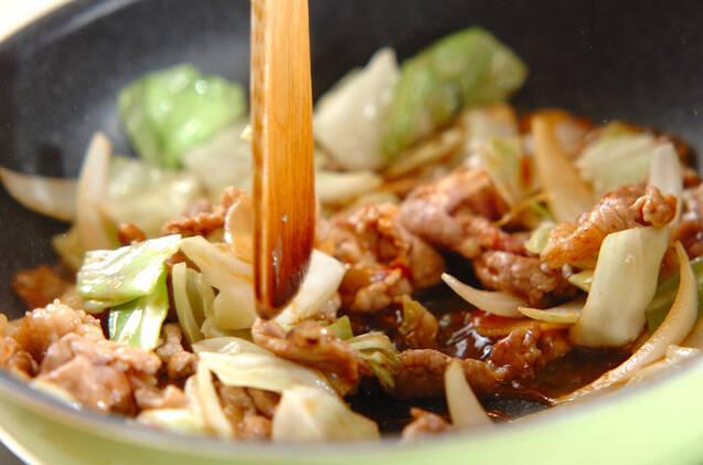 豚キャベツピリ辛炒めの作り方の手順3