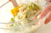 白菜とエビのからしみそ和えの作り方2