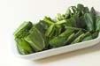 青菜のお吸い物の下準備1