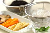 煮ヒジキ入り混ぜご飯の下準備1