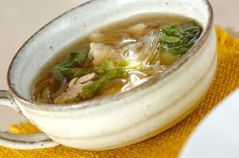 鶏と白菜のあったかスープ煮