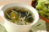 ワカメとエノキのスープの作り方の手順
