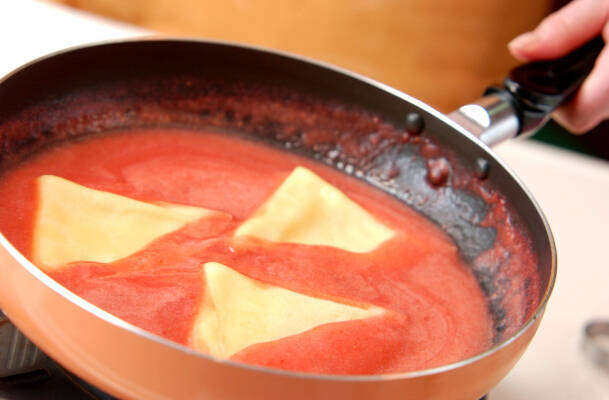 冷製シュゼット風クレープイチゴソースの作り方の手順6