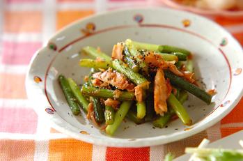 ニンニクの芽とツナの炒め物
