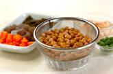 水煮大豆の煮物の下準備1