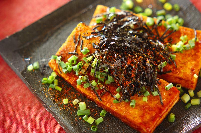 7. 豆腐のステーキ・カレー風味