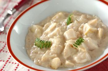 タケノコとホタテのクリーム煮