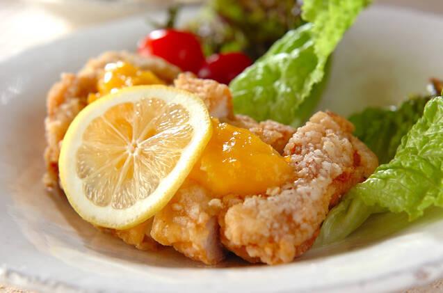 レモンソースがけ揚げ鶏