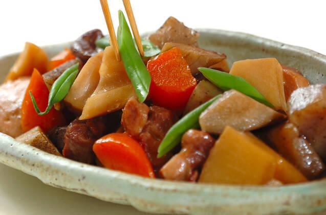 鶏もも肉とたっぷり根菜の煮物の作り方の手順10