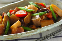 鶏もも肉とたっぷり根菜の煮物