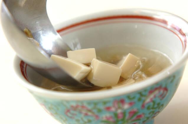 豆腐とザーサイのスープの作り方の手順4