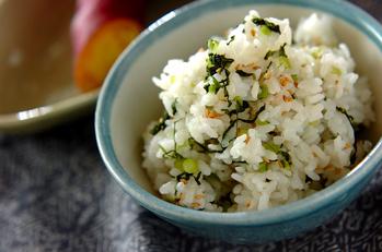 野沢菜の混ぜご飯