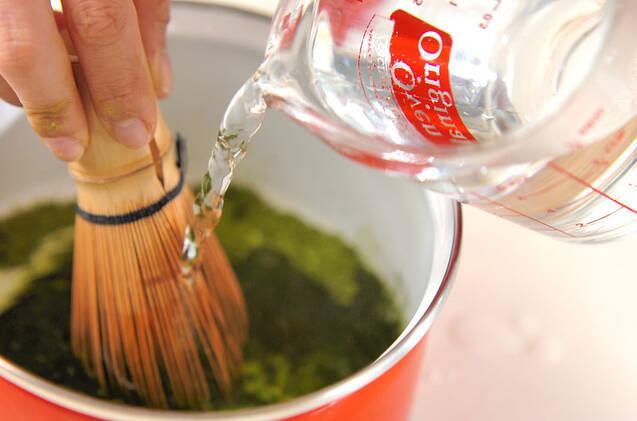抹茶の葛湯の作り方の手順2