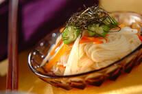 素麺と長芋の酢の物