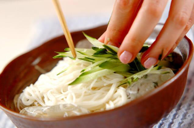 冷やしゴマ素麺の作り方の手順9